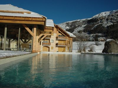 Photo for Chalet-Apartment - Grand Luxe - Swimming pool summer / winter - Foot of slopes