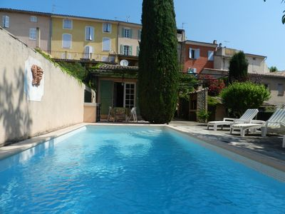 Photo for Village house in the Provencal charm with swimming pool