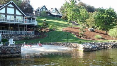 Photo for Amazing 7 BR Luxury Waterfront at Smith Mountain Lake, VA!  Gas tiki torches!