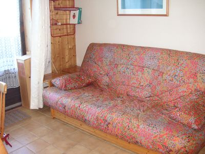 Photo for 2 room apartment, sleeps 6, at the foot of the gondola,