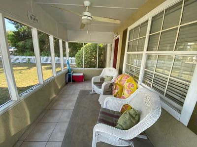 Front screened in porch.
