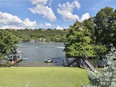 Photo for STAY HERE! WalkerVR LAKE AUSTIN MODERN *Amazing lake views & Private Dock!*
