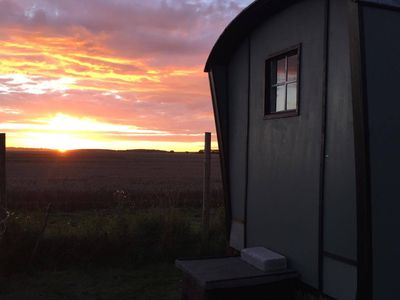 Photo for Fenton Shepherd's Hut in stunning countryside in the heart of Cambridgeshire