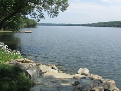 Great View.  Huge piece of waterfront property with lots of privacy.