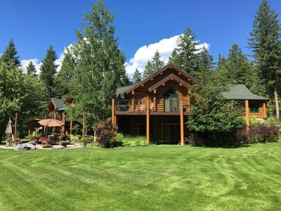 Photo for Log Home Guest House – Relax in Luxury Private Estate Close to Glacier Whitefish