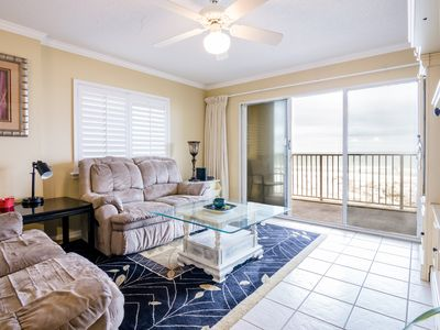 Photo for Spacious beachfront corner unit: 3BR/3BTH! Panoramic ocean views!