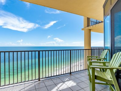 Photo for Spacious beach front condo in Orange Beach! Large pool, lazy river, indoor pool!