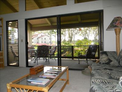 Living area opens to spacious lanai.