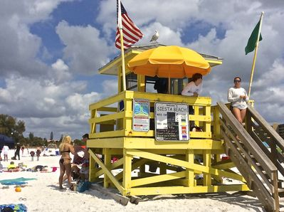 Life guard station on the Beach