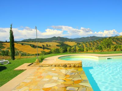 Photo for Farmhouse with pool and terrace near Volterra Pisa Siena Florence and Sea