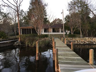 Photo for PEACEFUL WATERFRONT HOME ON THE BAY! Private Pier, Ground Level, Great Views!!