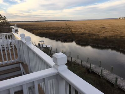 Photo for 51 Hammock Village - Stunning sound-view home in Pirate's Cove Resort OBX