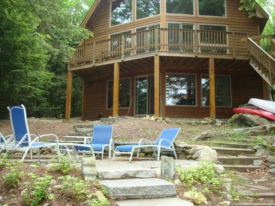 Photo for Lake / Ski Rental - a Home for All Seasons Sunapee Waterfront Cedar Home