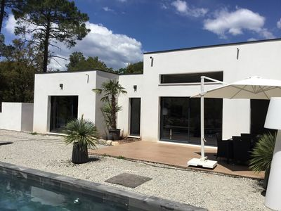 Photo for FREJUS. LUXURY HOUSE. POOL. CALM. WIRELESS. SEA AND SHOPS 4 KMS. STANDING