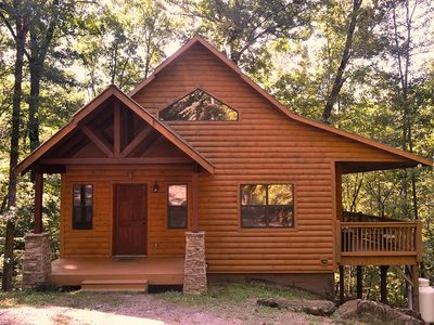 Photo for Perfect Cabin for two near Helen GA!