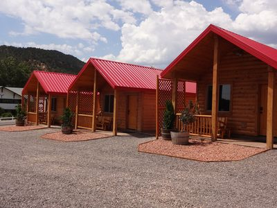 Our newly built T Lazy 7 Ranch Cabins!