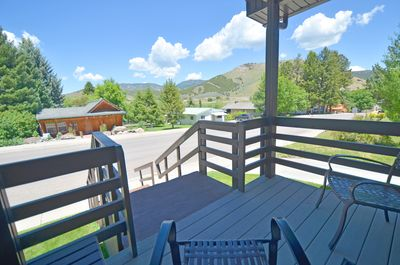 Enjoy the gorgeous view from the covered front porch.
