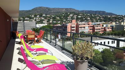 Photo for T3 Le Lavandou ideally placed 80m ² of terraces