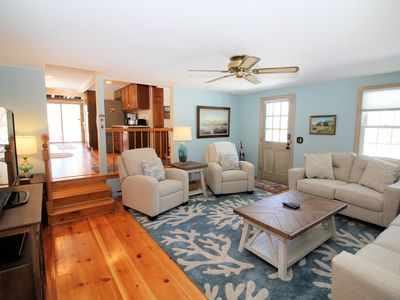Photo for Cozy 3BD Home--A/C, Sunroom, Big Deck, Walk to Chipman's Cove!