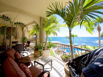 Photo for Beachfront 3 BR Ocean View Condo with Free Wifi and Calls To US and Canada