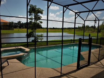 Photo for Deluxe 5 Bedroom 4.5 Bath Villa w/ Pool & Spa - 5 Miles to Disney!
