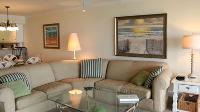 Photo for Compass Point #163 Gulffront Top Floor Penthouse Condo, 2 bedroom + Den, weekly rental, pool and tennis