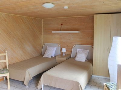 """Photo for Bungalow 5b """"Obersee"""" (up to 2 pers.) - Campsite **** at the Krakower lake"""