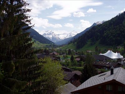 Photo for Gstaad Chalet  Apartment with View and 5 Min Walk to Village
