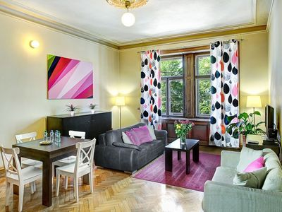 Photo for In the center of Prague with Lift, Parking, Washing machine (705214)
