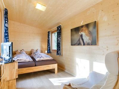 Photo for Chalet on the edge of the forest: terrace conveys a feeling of living in a tree house