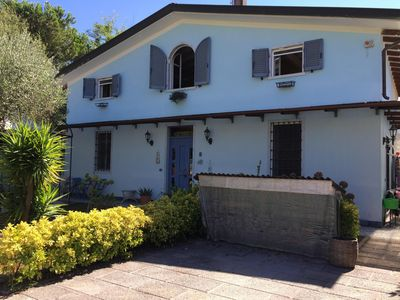 Photo for Semi-detached house, independent, private garden, free WiFi, 300m from the beach
