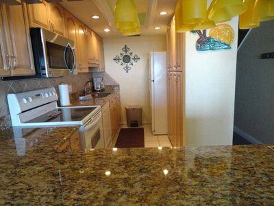 Kitchen with beautiful granite countertops