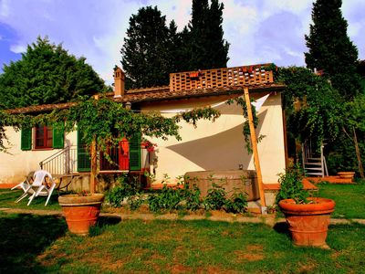 Photo for Farmhouse with private pool on the edge of Chianti on a hill overlooking Siena