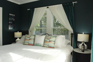 1 - Ahhhhh.....this king sized bed will make you want to stay in bed all day...