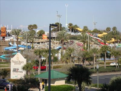 Big Kahunas Water Park and Putt Putt Golf. View from Front Door.