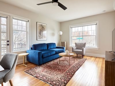 Photo for Sonder | The Essex | Bright 1BR + Sofa Bed