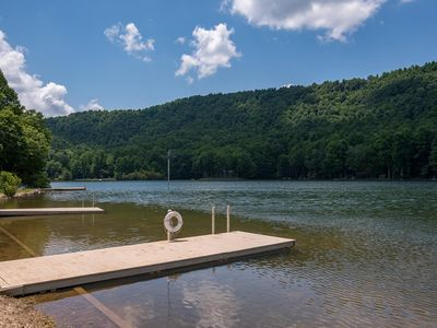 Photo for Tanglewood Cabin: Lake Sheila; Saluda, mountain lake retreat.  Private yet easily accessible to WNC & TIEC.