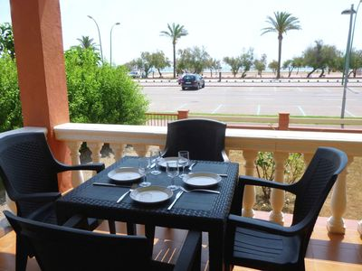 Photo for Central apartment just 25 meters from the beach with sea views