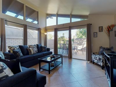 Photo for Desert condo with shared pool  - walk to Coachella festival grounds!