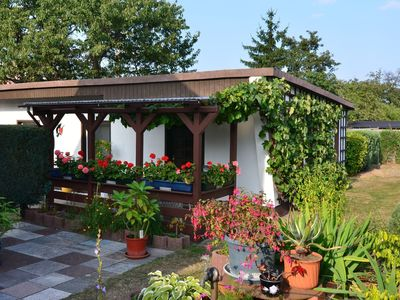 Photo for Detached holiday home in Blankenburg in the Harz with covered terrace.