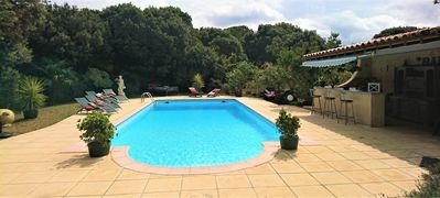Photo for Cottage in Montolieu, 15 minutes from Carcassonne - Pool, Pool house, Wifi