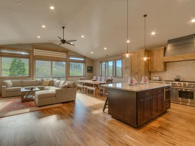 Photo for Four Seasons -Tahoe Donner 5 BR w.  Private Hot Tub - HOA Beach + Pools + Gym
