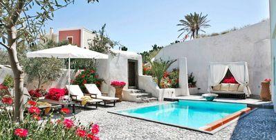 Photo for Mansion Sophia, 2-bdrm Santorini Island villa, modern amenities, near Megalochori