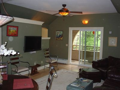 Main Room with view of front porch.