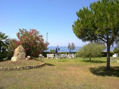 Photo for Apartment/ flat - Santa marinella  Residence in a private beach facing the sea