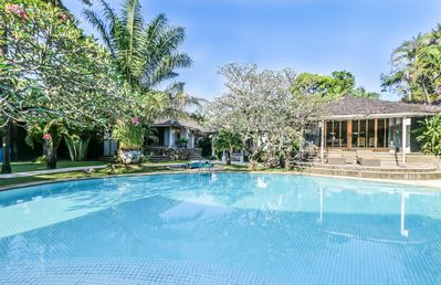 Photo for Maya, luxury ++ 3 Bedroom Villa, feature gardens and pool,by the beach, Seminyak
