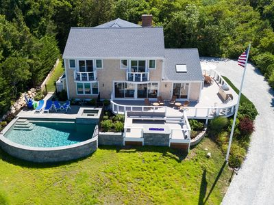 Private Orleans resort with water views, heated pool/spa & fire pit: 009-O