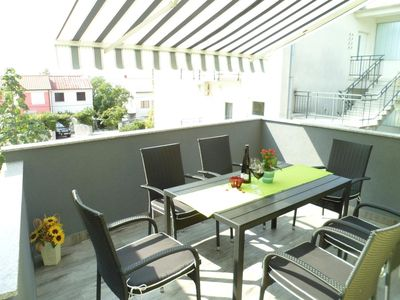 Photo for Two bedroom apartment with terrace and sea view Crikvenica