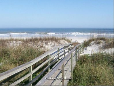 Follow the private boardwalk to the sugary sand! - A short walk down the private boardwalk from your Sea Urchin vacation rental at Surf Crest Village and you are on the sands! Delight in a classic beach of endless white sand and blue ocean waves.