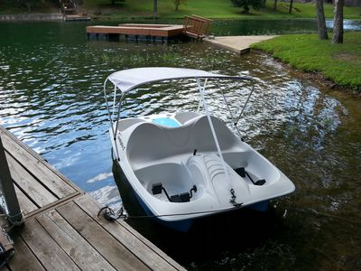 Pedal Boat for free, seats 5